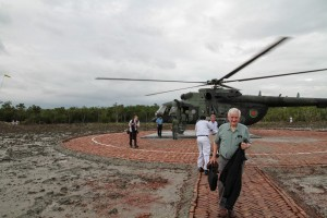 The helipad specially built for the site-visit by Bangladesh