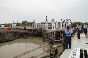 Disembarking in the Sunderbans